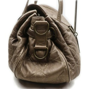 Christian Dior Bronze Quilted Cannage Leather Shoulder Hobo Bag 863132