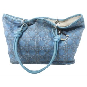 Dior Blue Cannage Shopper tote Bag 122dior5