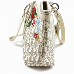 Christian Dior Beige Monogram Trotter Embroidery Tote Bag 862722