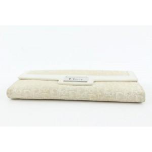 Dior Beige Monogram Trotter Long Flap Wallet 4da421