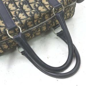 Christian Dior Navy Monogram Trotter Boston Bag 863110