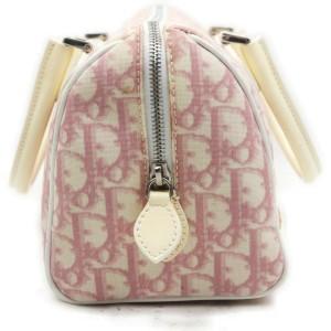 Christian Dior Pink Monogram Trotter Girly Chic Boston Bag 863136
