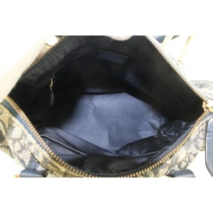 Christian Dior Navy Blue Trotter Boston Bag 862841