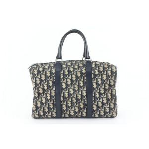 Dior Navy Blue Monogram Trotter Boston Bag 64da423