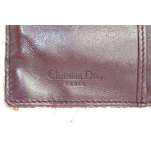 Dior Bordeaux Monogram Trotteur Saddle Flap Long Wallet 215da210