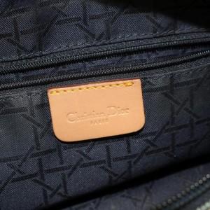Dior Chain Zip Tote 868739 Blue Denim Shoulder Bag