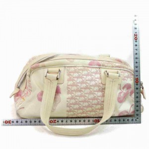 Dior Cherry Monogram Trotter Boston 860036 Pink Canvas Satchel