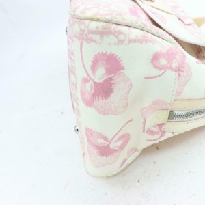 Dior Cherry Monogram Trotter Signature Oblique 871403 Pink Canvas Satchel