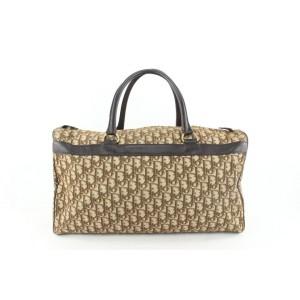 Dior Large Brown Monogram Trotter Boston Duffle Bag 65da423