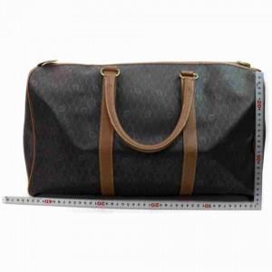 Dior Duffle Large Monogram Trotter Boston 872983 Black Pvc Weekend/Travel Bag