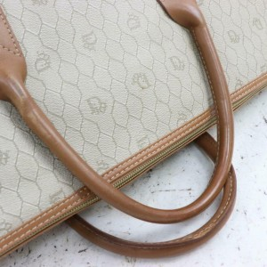 Dior Duffle Monogram Oblique Signature Trotter Extra Large 871243 Beiges Coated Canvas Weekend/Travel Bag