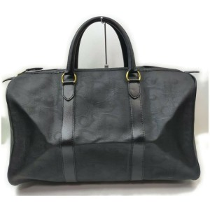 Christian Dior Black Monogram Trotter Boston Duffle Bag 858657