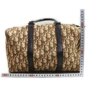 Christian Dior Brown Monogram Trotter Boston Duffle Bag 862513