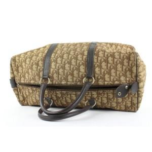 Christian Dior Brown Monogram Trotter Boston Duffle Bag 862812