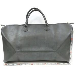 Christian Dior Black Monogram Trotter Boston duffle Bag 863088