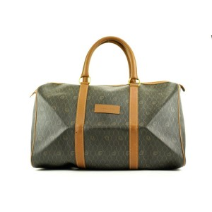 Dior Black Monogram Trotter Honeycomb Boston Duffle Bag 210da21