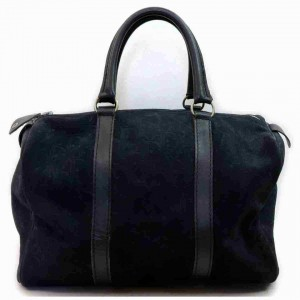 Dior Duffle Navy Monogram Trotter Boston Embossed 873000 Blue Suede Leather Satchel
