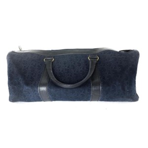 Dior Duffle Oblique Monogram Navy Boston 2dior613 Blue Suede Leather Weekend/Travel Bag