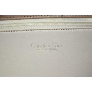 Dior Embossed Monogram Oblique Signature Trotter Cross Body 870596 Beige Suede Leather Shoulder Bag