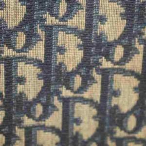 Dior Extra Large Logo Pouch Beige Monogram Trotter 872933 Navy Blue Canvas Clutch