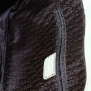 Dior Gaucho Saddle 871158 Beige Leather Shoulder Bag
