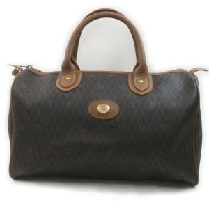Christian Dior Black Monogram Trotter Boston Medium Duffle Bag 863141