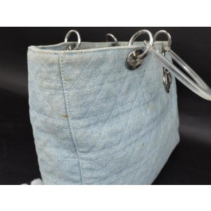 Christian Dior Quilted Denim Cannage Lady Dior 2way Tote 2341591