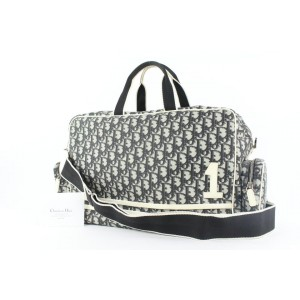 Dior Large Black Monogram Trotter Reporter Camera Messenger Bag 82da427