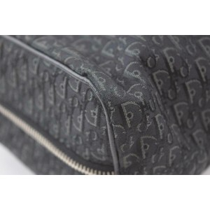 Dior Monogram Oblique Trotter Signature Briefcase Satchel 870258 Black Canvas Weekend/Travel Bag