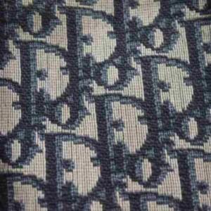 Dior Monogram Trotter Boston 873004 Blue Canvas Satchel