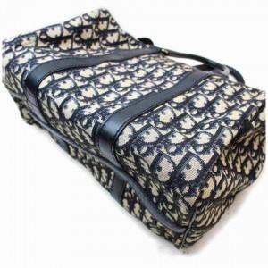 Dior Monogram Trotter Boston Navy Monogram 860074 Blue Canvas Weekend/Travel Bag
