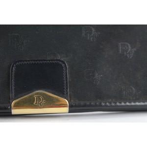 Dior Black Monogram Trotter Flap Shoulder Bag 6DA525