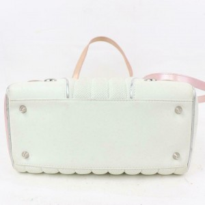 Dior Montaigne (Ultra Rare) 1947 Card 2way Tote 871182 White Leather Shoulder Bag
