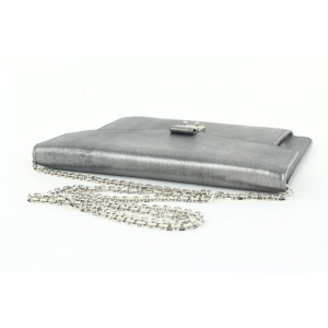 Dior Pewter Silver Chain Flap Crossbody Bag 292da513