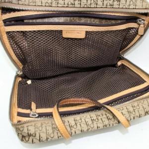 Dior Vanity Case Monogram Oblique Signature Trotter Cosmetic 872388 Brown Canvas Weekend/Travel Bag