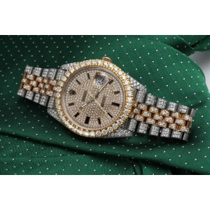 Rolex Datejust 41mm 126303 Custom Diamond Yellow Gold and Stainless Steel  Watch