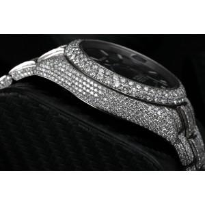 Rolex Sky Dweller Black Dial Stainless Steel 326934 Custom Diamond Watch