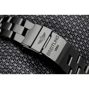Breitling Super Avenger A13370 Custom Diamond Black PVD Watch