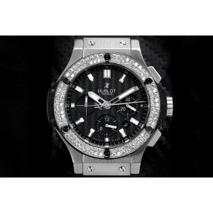 Hublot Big Bang Men's  Chronograph Custom Diamond Watch - 301.SM.1770.GR