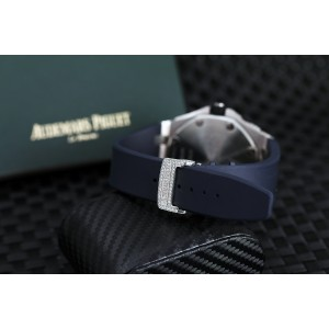 Audemars Piguet Royal Oak Offshore Chronograph 25721ST.OO.1000ST.09 Custom Two Tone Rose Diamond Watch