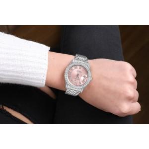 Rolex 36mm Datejust Custom Diamond Bezel, Pink Diamond Roman Dial 16014