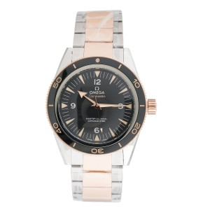 Omega Seamaster 233.20.41.21.01.001 Automatic Black Dial Stainless Steel and 18K Rose Gold 41mm Mens Watch
