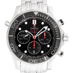 Omega Seamaster 212.30.44.50.01.001 Automatic Chronograph Black Dial Stainless Steel 44.5mm Mens Watch