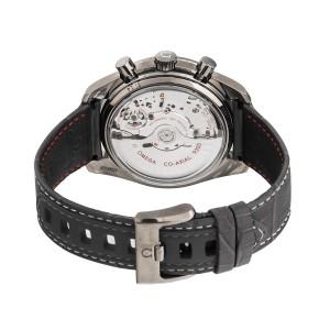Omega Speedmaster Moonwatch 311.93.44.51.99.001 Sandblasted Platinum Dial Grey Leather Chronograph Automatic 44.25mm Mens Watch