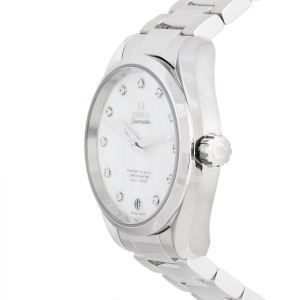 Omega Seamaster Aqua Terra 231.10.39.21.55.002 Mother of Pearl Diamond Dial Stainless Steel Automatic 38.5mm Womens Watch