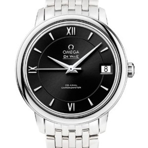Omega De Ville Prestige  424.10.33.20.01.001  Automatic Black Dial Stainless Steel 32.7mm Womens Watch