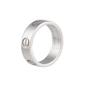 Cartier Love Ring Platinum Size 5.25