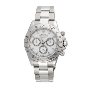 Rolex Daytona 116520 Chronograph Stainless Steel White Dial Automatic 40mm Watch