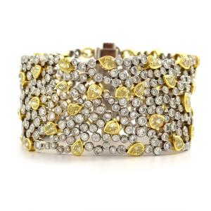 White And Yellow Diamond Link Bracelet
