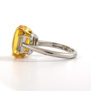 Tiffany & Co. 7.42 Carat Yellow Sapphire And Diamond Ring Size 6